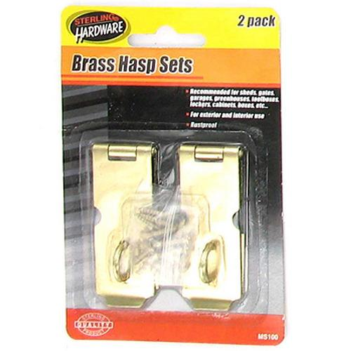 Gold Tone Iron Hasp Set ( Case of 48 )