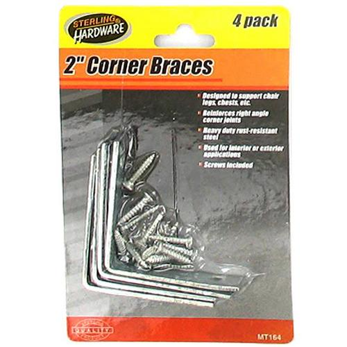 Corner Braces with Mounting Hardware ( Case of 48 )