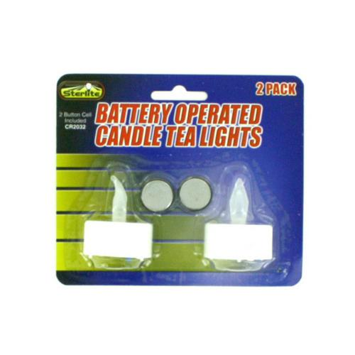 Decorative LED Tea Light Candles Set ( Case of 24 )