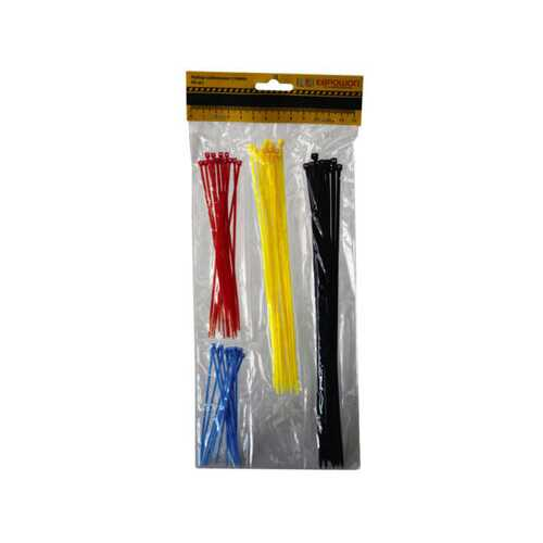 60 piece asst colored cable ties ( Case of 48 )