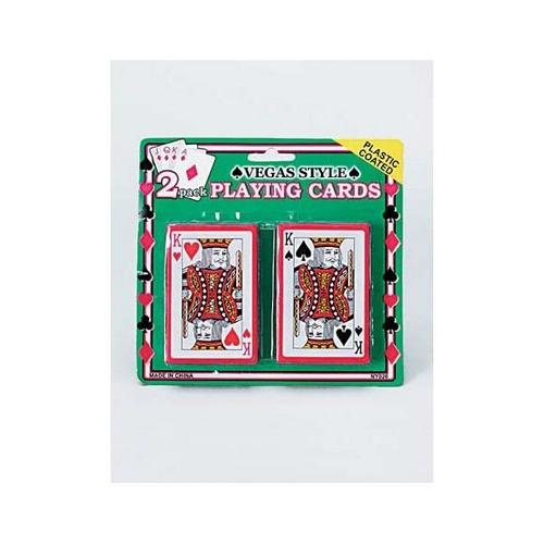 Plastic Coated Poker Size Playing Cards Set ( Case of 48 )