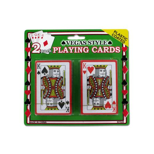 Plastic Coated Poker Size Playing Cards Set ( Case of 96 )