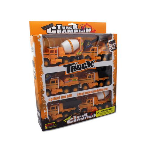 Friction Powered Construction Trucks ( Case of 4 )
