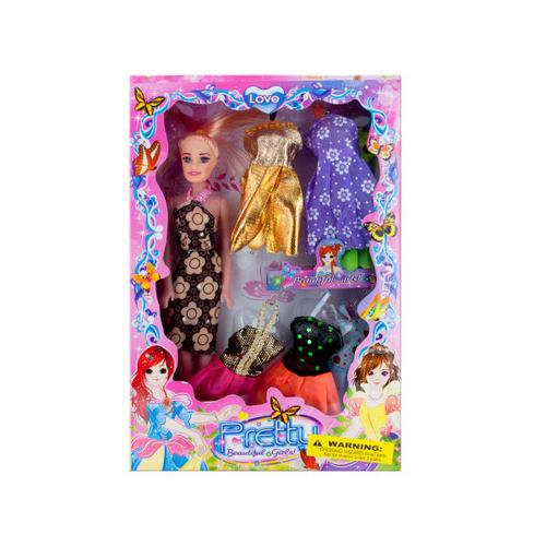 Fashion Doll with Dresses Set ( Case of 4 )
