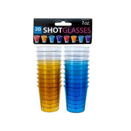 1 oz Clear Plastic Shot Glasses ( Case of 24 )