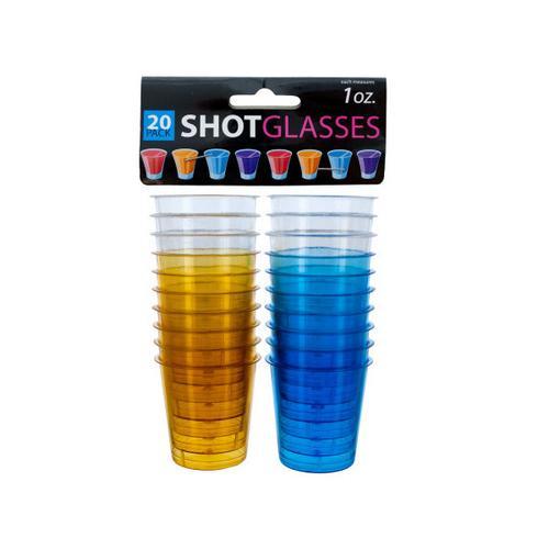 1 oz Clear Plastic Shot Glasses ( Case of 48 )