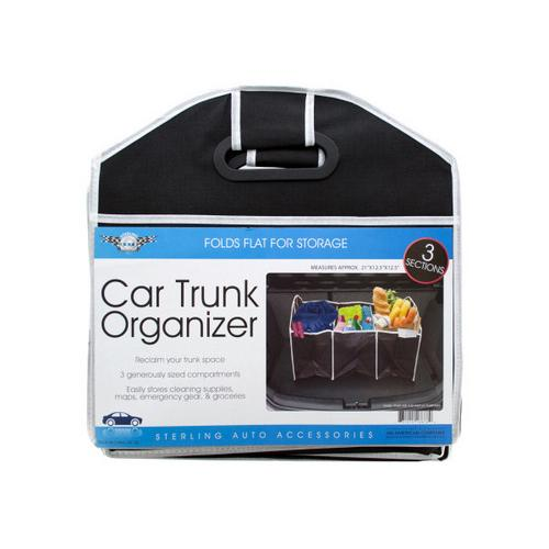 Three Section Auto Trunk Organizer ( Case of 4 )