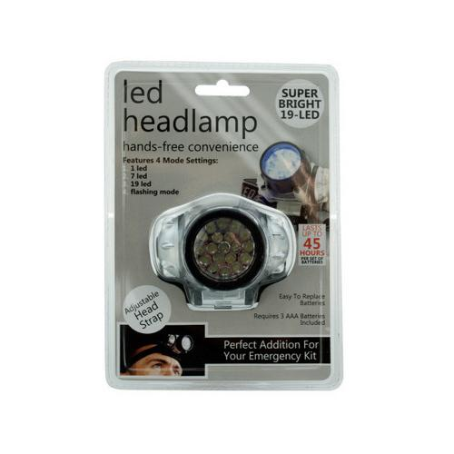 LED Headlamp with 4 Mode Settings ( Case of 12 )
