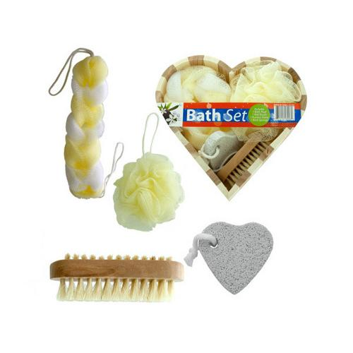 Heart Boxed Bath Gift Set ( Case of 4 )