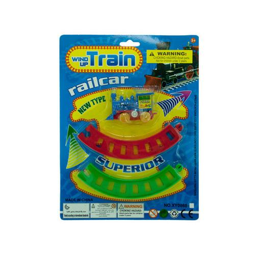 Wind-Up Toy Train with Track Set ( Case of 24 )