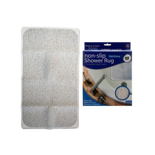 Fast Drying Non-Slip Shower Rug ( Case of 2 )