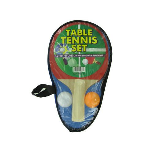 Portable Table Tennis Set in Carrying Case ( Case of 6 )