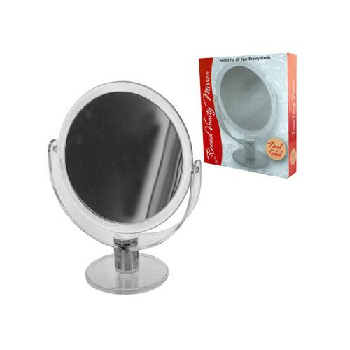 Dual Sided Round Stand Up Vanity Mirror ( Case of 12 )