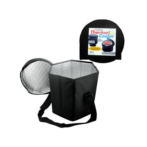 Folding Thermal Cooler with Shoulder Strap ( Case of 3 )
