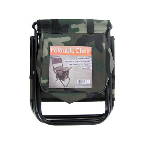 Camouflage Foldable Chair with Zipper Gear Pouch ( Case of 4 )