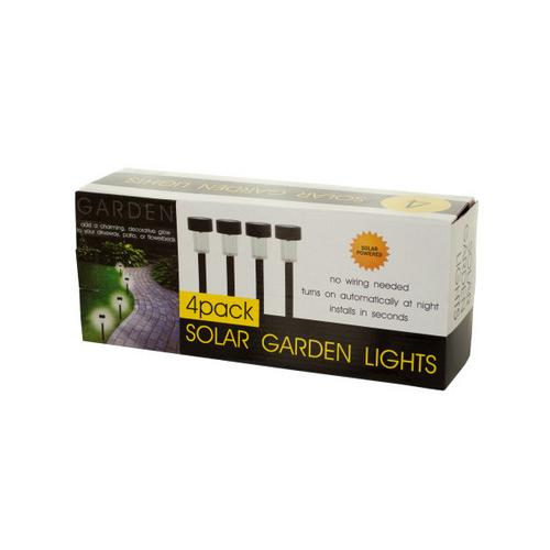 4-Piece Solar Powered Garden Lights Set ( Case of 2 )