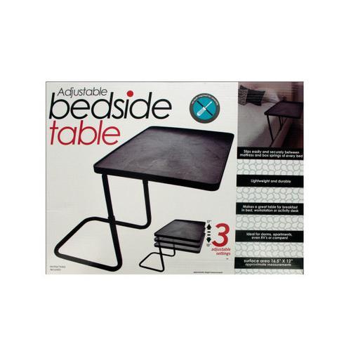Multi-Purpose Adjustable Bedside Table ( Case of 3 )