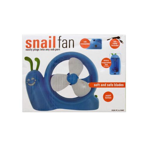Battery Operated Snail USB Fan ( Case of 4 )
