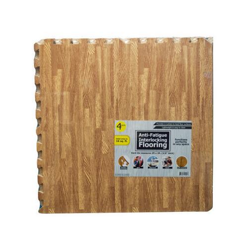Anti-Fatigue Interlocking Flooring Set ( Case of 4 )