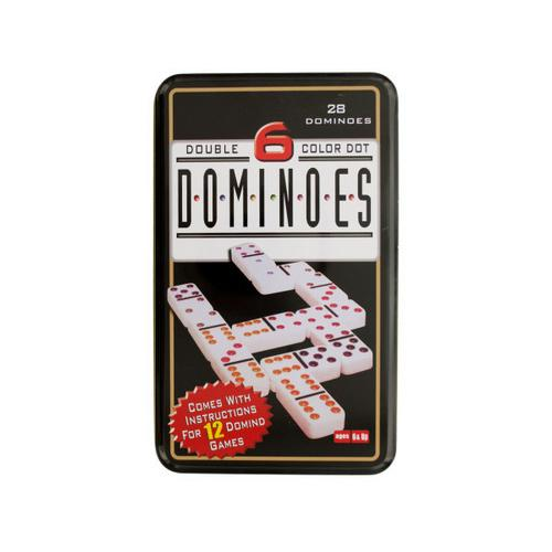 Double 6 Color Dot Dominoes Game Set ( Case of 12 )