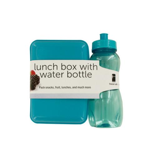 Lunch Box with 20 oz Water Bottle ( Case of 12 )