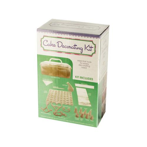 Cake Decorating Kit with Caddy ( Case of 6 )