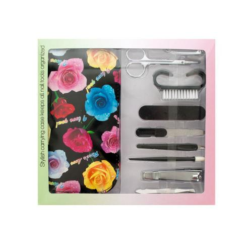 Manicure Set with Carrying Case ( Case of 1 )