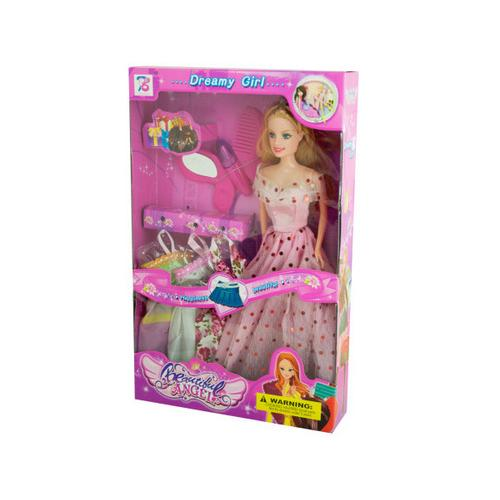 Dreamy Fashion Doll with Dresses & Accessories ( Case of 4 )