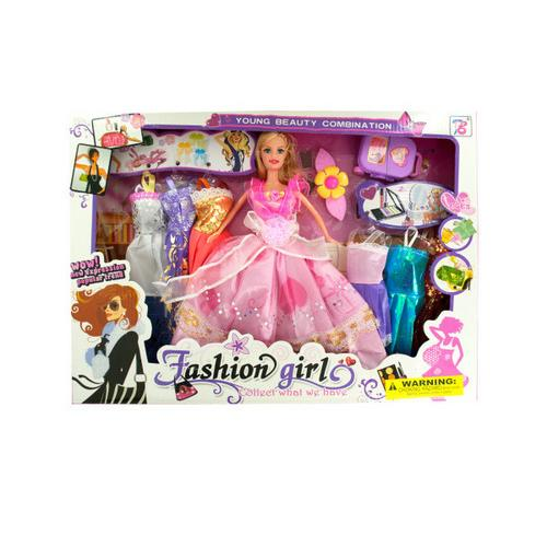 Fashion Doll with Large Wardrobe & Accessories ( Case of 1 )