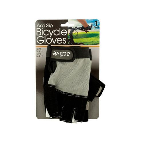 Anti-Slip Bicycle Gloves with Breathable Top Layer ( Case of 8 )