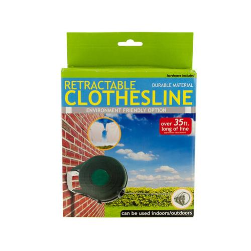 Indoor Outdoor Retractable Clothesline ( Case of 2 )