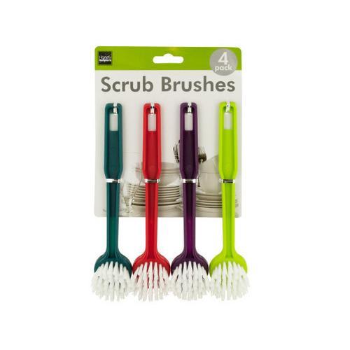 Multi-Purpose Round Head Scrub Brushes ( Case of 12 )