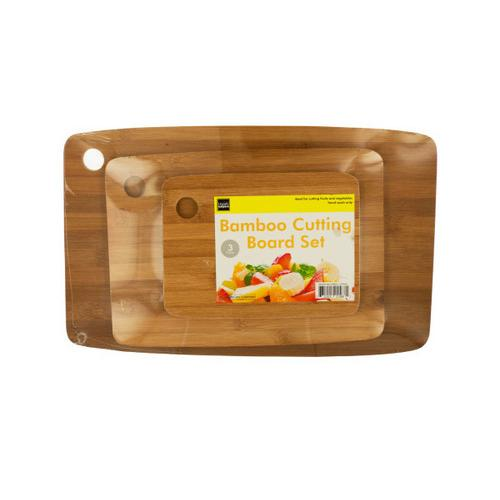 Bamboo Cutting Board Set ( Case of 4 )