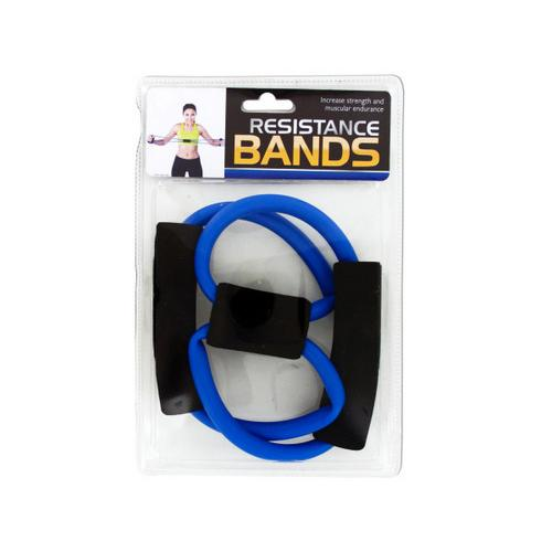 Portable Resistance Bands with Foam Handles ( Case of 6 )