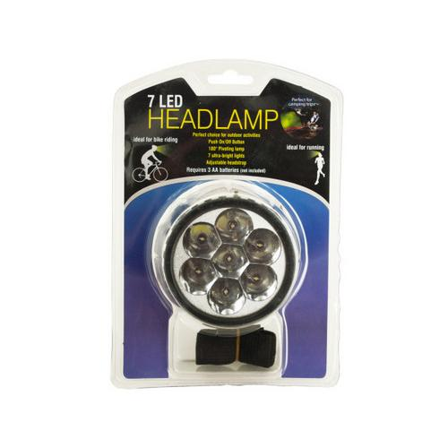 7 LED Pivoting Headlamp with Adjustable Strap ( Case of 12 )