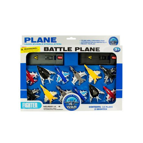 Toy Jet Fighter Planes with Launch Pads Set ( Case of 12 )