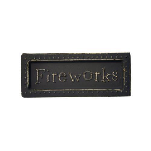 Fireworks Mini Metal Sign Magnet ( Case of 54 )