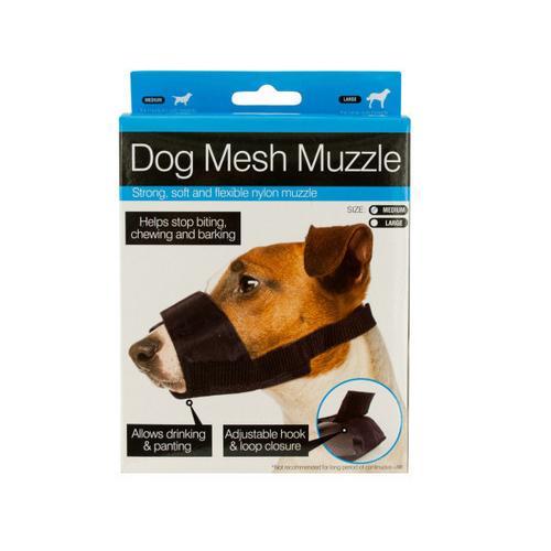 Adjustable Nylon Mesh Dog Muzzle ( Case of 10 )