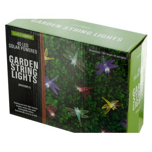 Dragonfly Solar Powered LED String Lights ( Case of 2 )