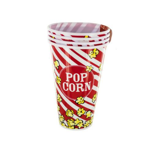 33 oz Red Popcorn Bucket Cups Set ( Case of 8 )