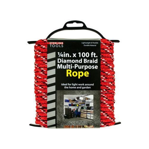 Diamond Braid Multi-Purpose Rope on Holder ( Case of 4 )