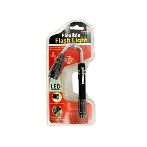 Flexible LED Flash Light with Pick Up Tool ( Case of 3 )