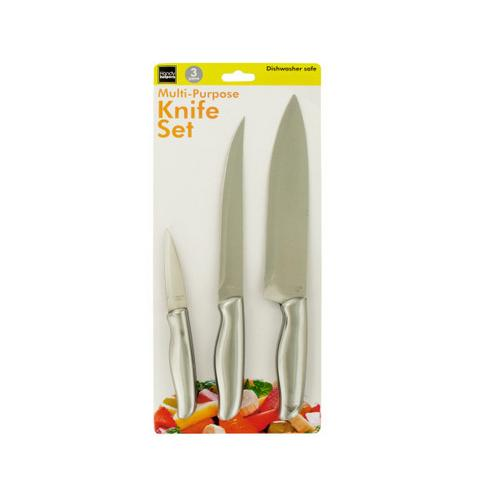 Multi-Purpose Stainless Steel Knife Set ( Case of 3 )