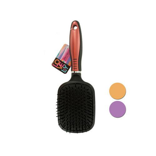 Paddle Hairbrush with Built-In Mirror ( Case of 8 )