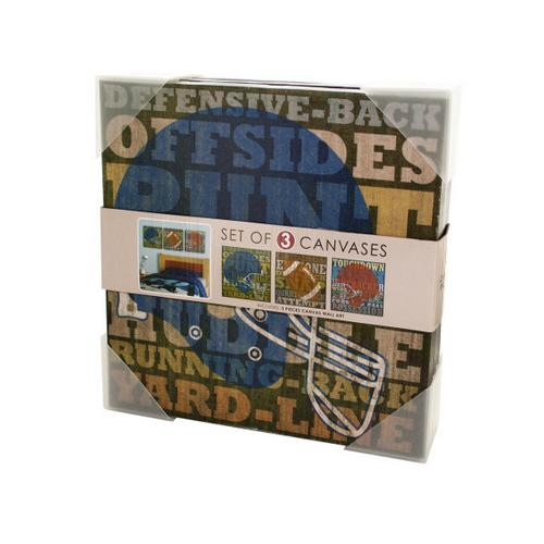 Football Canvas Wrapped Wall Art Set ( Case of 2 )