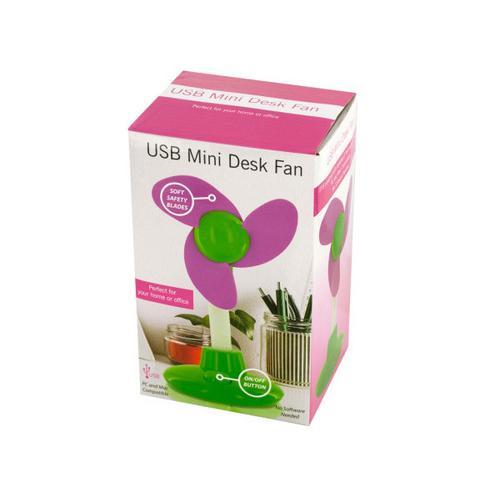USB Mini Flower Shape Desk Fan ( Case of 12 )