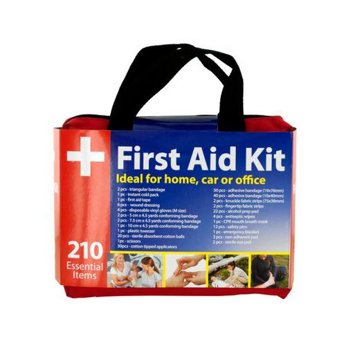 First Aid Kit in Easy Access Carrying Case ( Case of 4 )