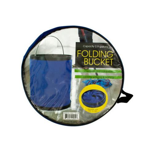 Folding Nylon Bucket with Metal Handle ( Case of 3 )