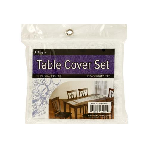 Lace Table Cover Set with Placemats ( Case of 8 )