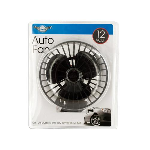 12 Volt Auto Fan with Suction Cup ( Case of 3 )